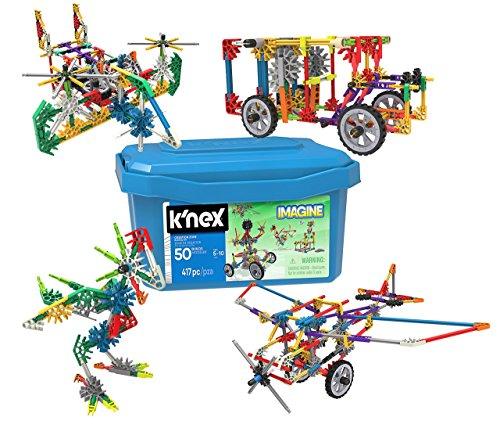 K 'nex–34366–Creation Zona 50, 417 pieza, 5Plus, diseño de y kostru ktions juguete
