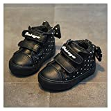 WanXingY New Winter Baby Shoes Casual Plus Velvet Shoes de Invierno Botas para niñas Boots Lindo Bow Princess Shoes Baby Girl Zapatos (Color : Negro, Size : 3.5)