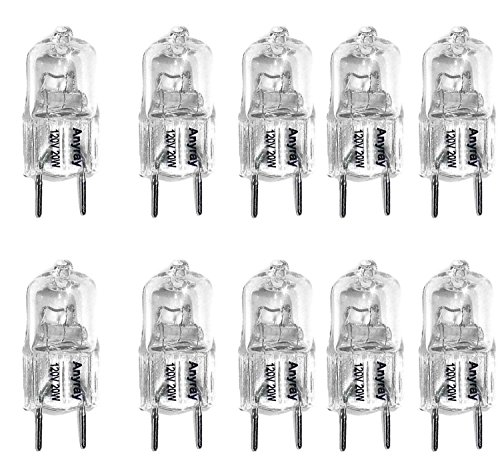 (10)-Pack Anyray Replacement for 120V Samsung Microwave ME18H704SFS Cook Top Light 20W