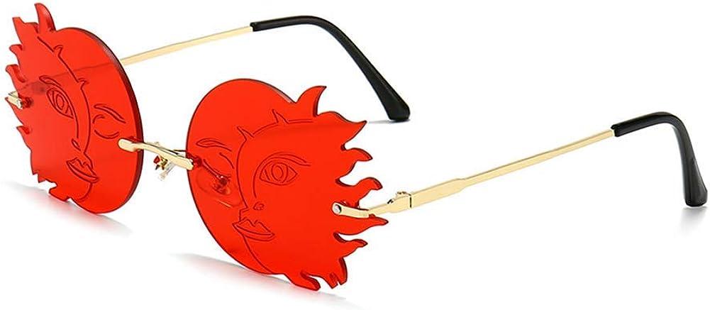 Rimless Round Long-awaited Sunglasses Women Sun Personality Frameless cheap Fashion