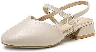 5dc4d4a1 Sandalias Ligeras Casuales para Mujer Zapatos de Tacón Medio Playa de  Verano Dedo Del Pie Cerrado