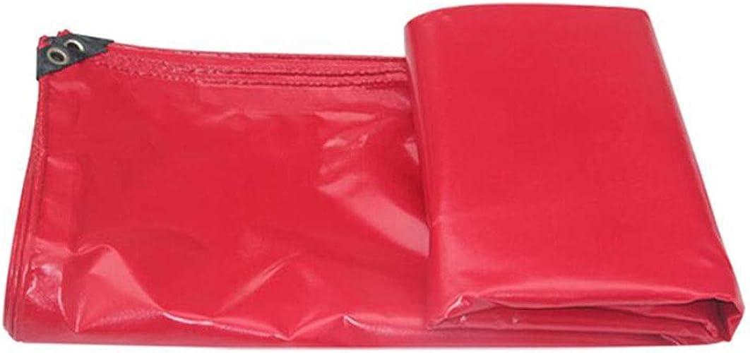 HongTeng Couverture imperméable Rouge de Feuille de bache de Prougeection du Soleil avec la Couverture en Bois de Voitures de Jardin d'oeillets (Taille   2x3m)