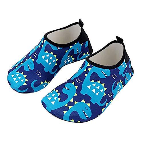 Bmeigo Zapatos de Agua Calcetines Descalzos de Aguamarina de Secado rápido para Niñas Niños Piscina de Playa Natación para Buceo Surf Yoga Ejercicio Zapatos para Interiores