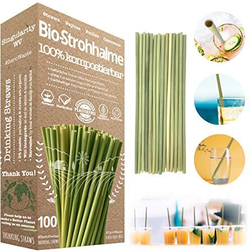 Pajitas Biodegradables   Pajitas Reutilizables   Pajitas de hierba   Pajitas Ecológicas   Pajitas Compostables   Desechables   Pajitas Sostenibles   Pajitas Cóctel   Pajitas Fiestas (100)