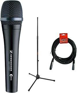 Sennheiser e945 Supercardioid Dynamic Handheld Vocal Microphone with Tripod Microphone Stand & 20' XLR Cable