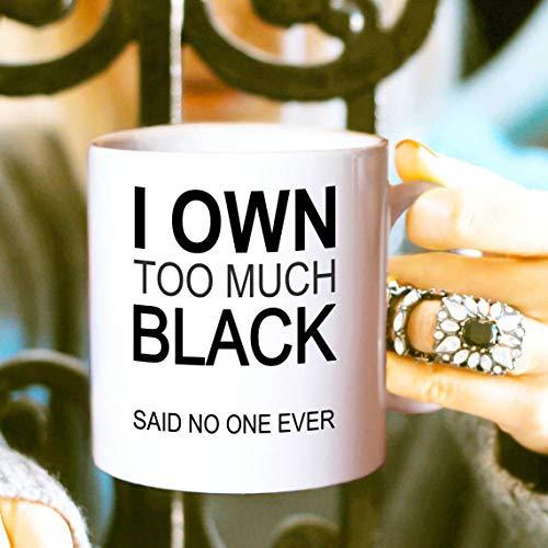 Thee Mok, Koffie Mok 11Oz Ik Eigen Te Veel Zwarte Koffie Mok Vriendschap Mok Meisje Koffie Mok Grappige Koffie Mok