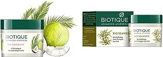 Biotique Unisex Bio Sustainable Set of Coconut Cream & Anti-Fatigue Eye Gel