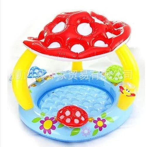 alta calidad y envío rápido HJXJXJX 102 102 102  89cm inflable con forma de seta del bebé piscina cortina  precios mas bajos