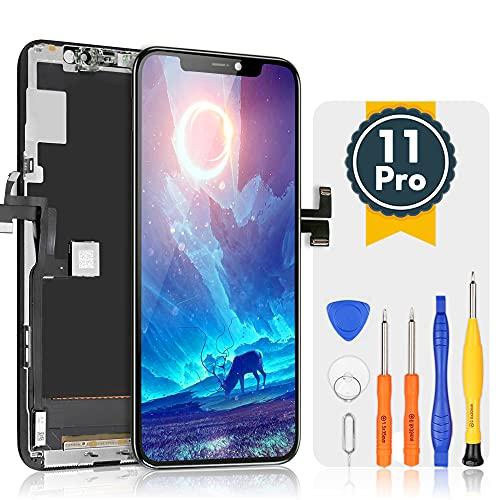 bokman LCD Pantalla para iPhone 11 Pro, Táctil LCD Reemplazo con Herramientas de Reparación