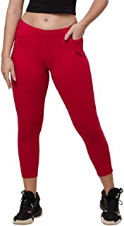 Lovable Women Girls Cotton Solid Track Pants in Pink Color- Gear Up Track - FU