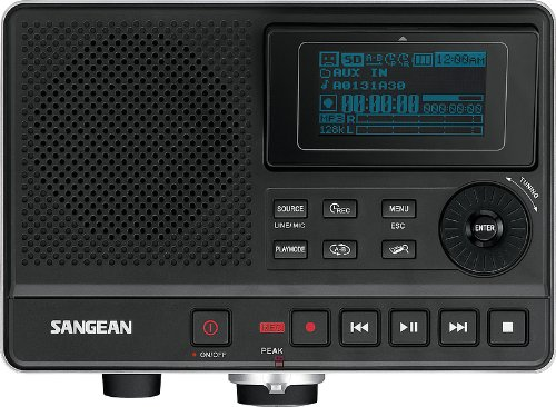 Sangean DAR-101 Tarjeta flash - Dictáfono (MP3,WMA, 8 Ω,
