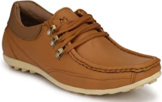 REAL Synthetic Leather Hand Stitched Lace ups Casaul Shoes for Men