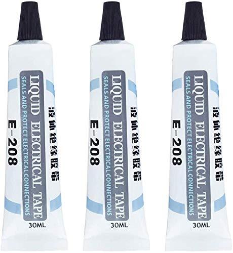 Cinta eléctrica de aislamiento líquido, cinta eléctrica adhesiva líquida, negro/blanco, aislamiento de...