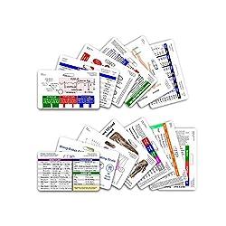 Diverses cartes de badges empilés