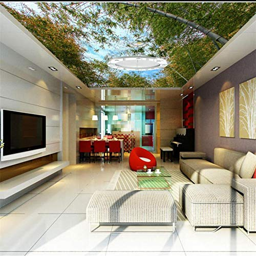 Papel Tapiz Personalizado Murales Pictóricos 3D Cielo Bambú Zeno Sala De Estar Pintura Decorativa Papel Tapiz 3D,400*280Cm