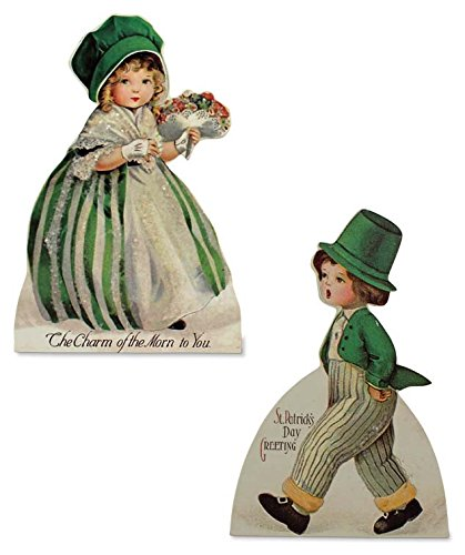 Bethany Lowe St Patrick's Day Greetings Wood Dummy Boards Set of 2 New