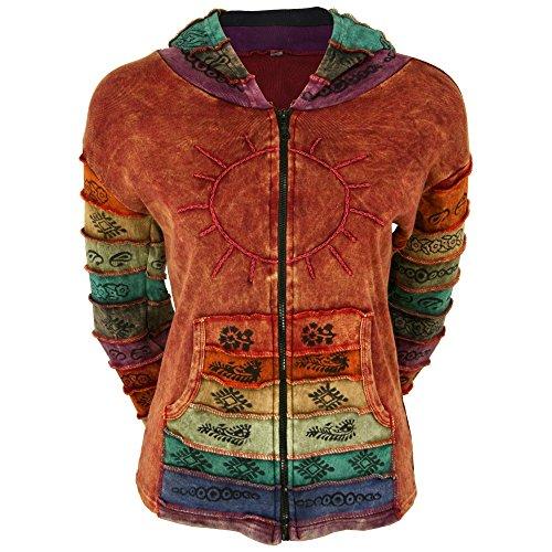Sunshine Daydream Hooded Jacket (L/XL, Rust)