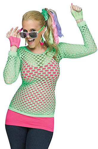 Women's Rockin' 80s Pop Diva Costume Kit withScrunchie, Hair Extensions, Sunglasses, Earrings, Mitts