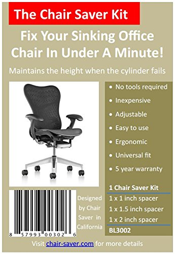 Chair Saver The Kit - Fix Your Sinking Office Chair in Under A Minute!