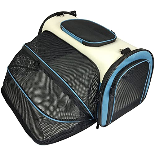Becko Expandable Foldable Pet Carrier Cat Bag Portable Travel Handbag with Padding and...