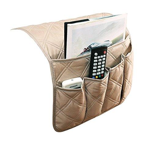 etc. Livre Magazines Canap/é Chaise Organiseur Sac de Rangement pour Accoudoir de Fauteuil//Sofa avec 4 Poches Canap/é Pochette de Rangement pour T/él/éphone T/él/écommande