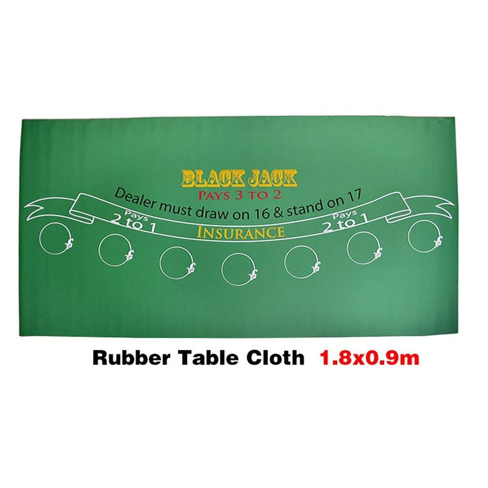 Amazon Com Tx Girl Blackjack Layouts Black Jack 21 Points Baccarat Casino Poker Tablecloth Green Rubber Table Mat Board Cloth 18090cm Size 18090cm Sports Outdoors