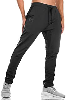 BROKIG Mens Jogger Sport Pants, Casual Zipper Gym Workout Sweatpants Pockets