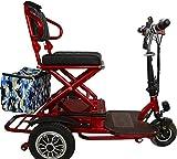 Silla de ruedas eléctrica Triciclo plegable eléctrica 48v20A scooter de doble unidad de 700W 50 kilometros de motor / exterior, ancianos / viajes de discapacitados en silla de ruedas eléctrica Viaje c