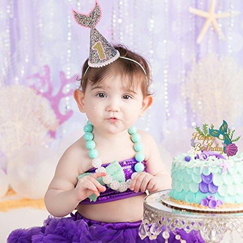 First Birthday Hat 12 Birthday Hat Under The Sea Birthday Hat Mermaid Birthday Hat Aqua Birthday Hat Ocean Theme Birthday Hat