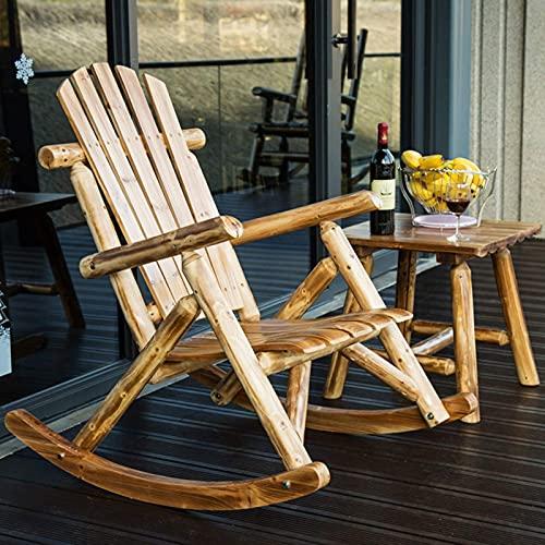 DGDF - Sedia a dondolo per il tempo libero, sedia a dondolo, in legno, stile antico americano, stile country, per adulti