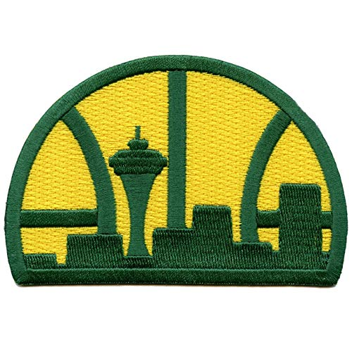 Seattle Supersonics Team Patch Throwback Embroidered Iron On