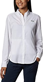 Columbia Women's PFG Tamiami II Long Sleeve Shirt, UV Sun...