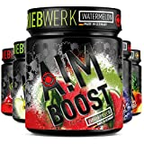 AIM BOOST | Watermelon | 40 Portionen | 23 Wirkstoffe | 247mg Koffein + Tyrosin +Theanin + Vitamine