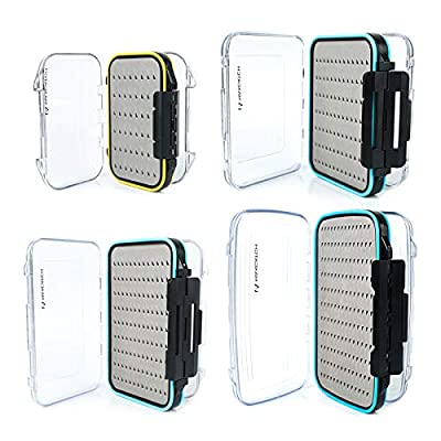 M MAXIMUMCATCH Maxcatch Two-Sided Waterproof Fly Box Easy Grip Foam Jig Fly Fishing Box