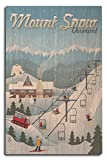Lantern Press Mount Snow, Vermont - Retro Ski Resort (10x15 Wood Wall Sign, Wall Decor Ready to Hang)