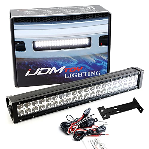 iJDMTOY Lower Grille 20-Inch LED Light Bar Compatible with 1999-2007 Ford F250...