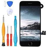 """LL TRADER Pantalla para iPhone 8 Negro 4.7"""", Repuesto de Pantalla Táctil Retina LCD Digitalizador con Botón de Inicio, Sensor de Proximidad, Cámara Frontal, Altavoz de Auricular y Herramientas"""