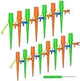 FYLINA Set de riego automático, 15 unidades, sistema de riego ajustable, para balcón, jardín, para plantas, dispensador de agua, plantas, riego, vacaciones, con soporte resistente a la intemperie
