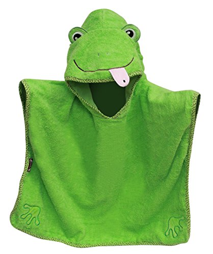 Frog Character Poncho Hooded Towel 28'X 30' by Frenchie Mini Couture