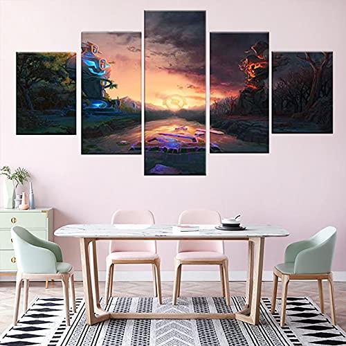 5 carteles y películas impresas y programas de televisión The Vampire Diaries 3 serie de TV carteles de arte clásico pintura en lienzo decoración del hogar 150cm x 80cm sin marco