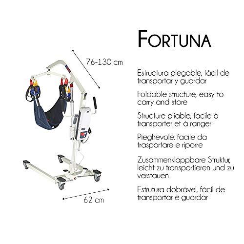 518Y+XT5LzL - Grúa eléctrica, 135 kg, Arnés Incluido, Fortuna, Mobiclinic