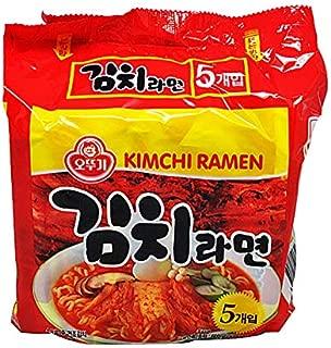 Korean Noodles, Ottogi Kimchi Ramen, Korean Spicy Noodle, instant noodle, Korea Spicy Food, Korea Spicy Food challenge,120g X Pack of 5 ,오뚜기김치라면 한국매운음식