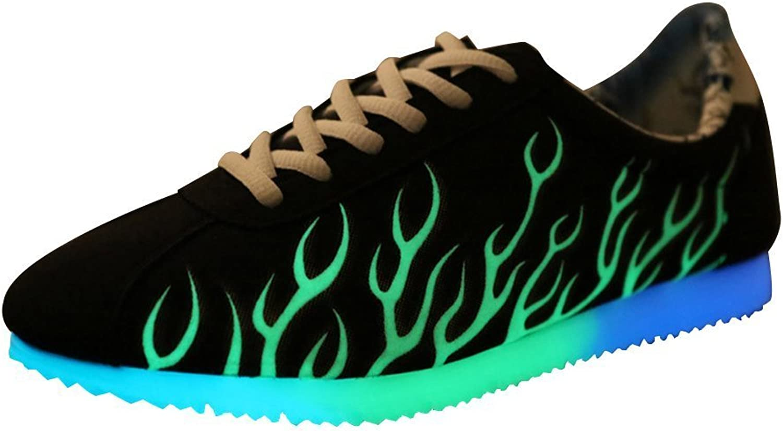 Sexphd Men's Women's Light Up Pattern Lace Up Luminous Fluorescent shoes Sneakers