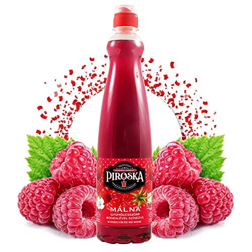 Piroska Sirope sabor frambuesa 700 ml | jarabe de bebidas | concentrado de sirope de fruta funciona con todos los gasificadores de agua