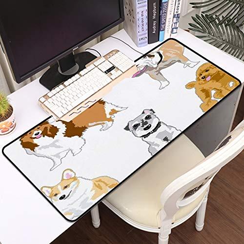 Gaming Mousepad Groß Mauspad,Pudel Schnauze Welpe Welsh Young Pet Dog Tier Wildlife Schnauzer Mammal Furry,Komfort Mousepad - verbessert Präzision und Geschwindigkeit