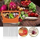 NOLOGO Ashy-WLj Zwiebelschneider Tomate Gemüsehobel Schneidhilfe Edelstahl Zwiebel Halter for Slicing Lemon Kartoffelschneider Küchenhelfer (Farbe : Random Color)