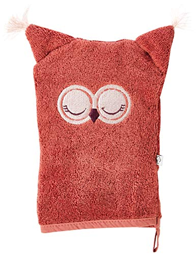 Pippi Unisex-Baby Organic wash Cloth Swimwear Cover Up, Marsala, 14x21