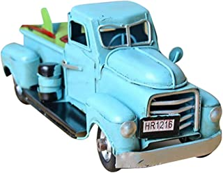Wenini Christmas Ornament Truck Toy, Vintage Red Metal Truck Christmas Ornament Kids Xmas Gifts Toy Table Top Decor (Blue❤️)