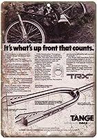 1981 Tange BMXフォークレトロメタルサイン