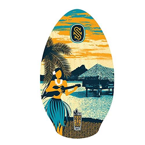 Skimboard SkimOne 90 cm Tahiti Azul Naranja Madera de álamo